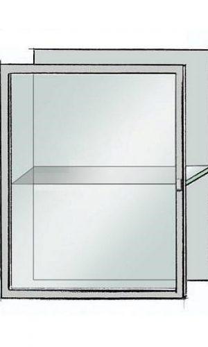 Deur 30% gesatineerd glas aluminium raam