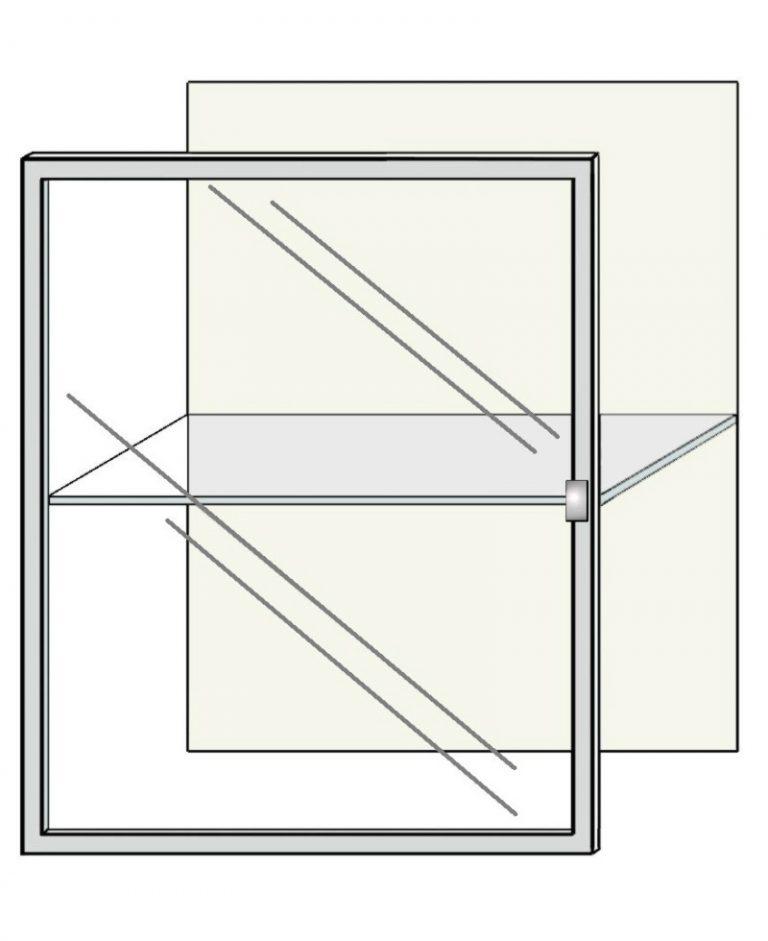 Deur helderglas aluminium raam