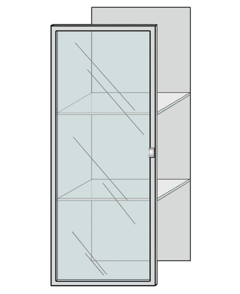 deur melkglas aluminium raam