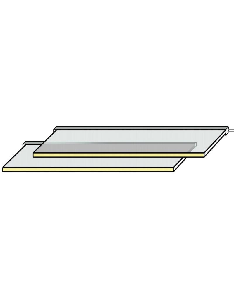 glasschap met LED 55 cm