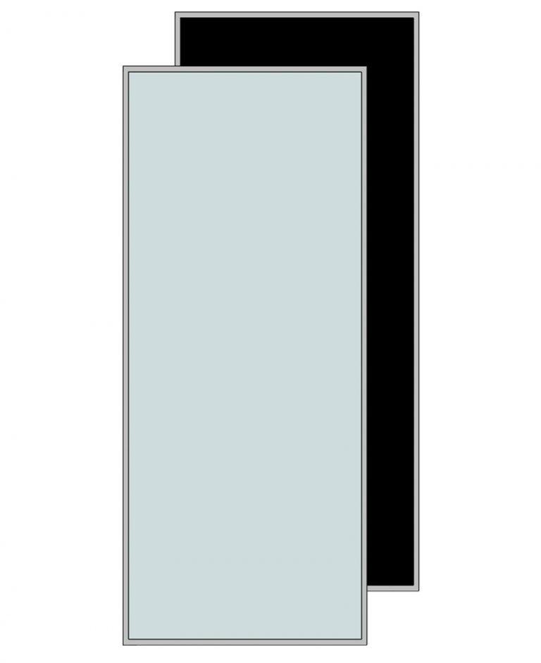 Glasschuifdeur met aluminium raamwerk h220,4 cm