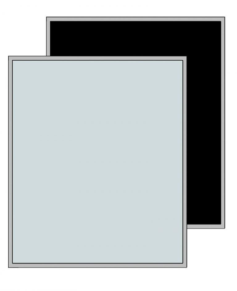 Lundia Glasschuifdeur met aluminium raamwerk h110cm
