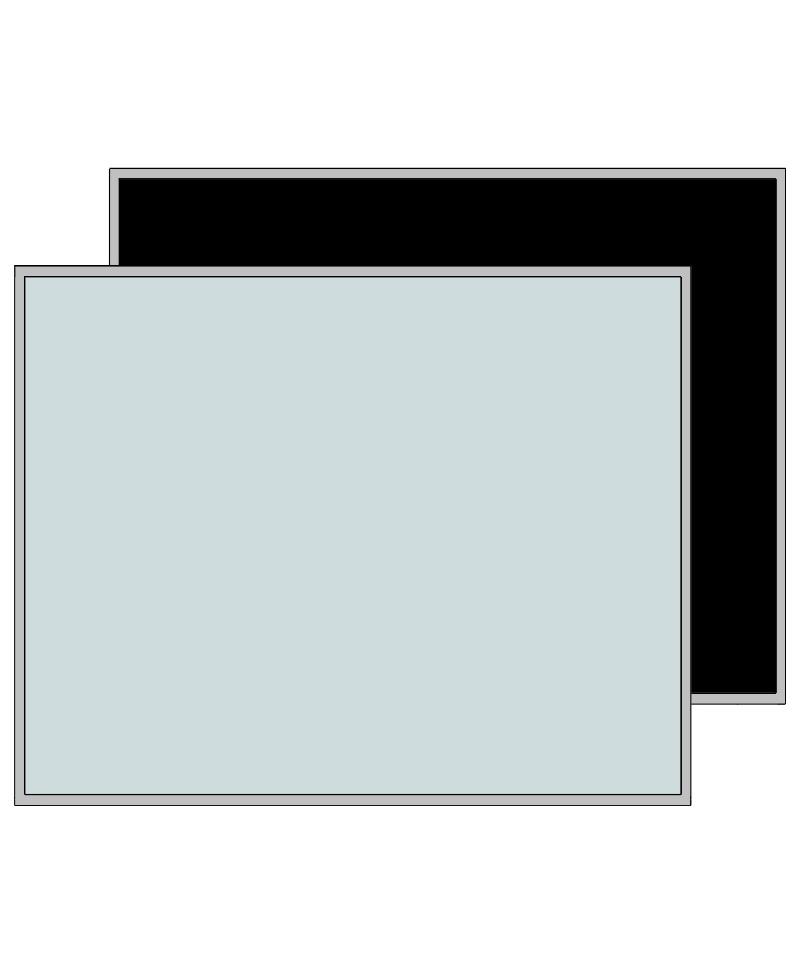 Glasschuifdeur met aluminium raamwerk h111,6 cm